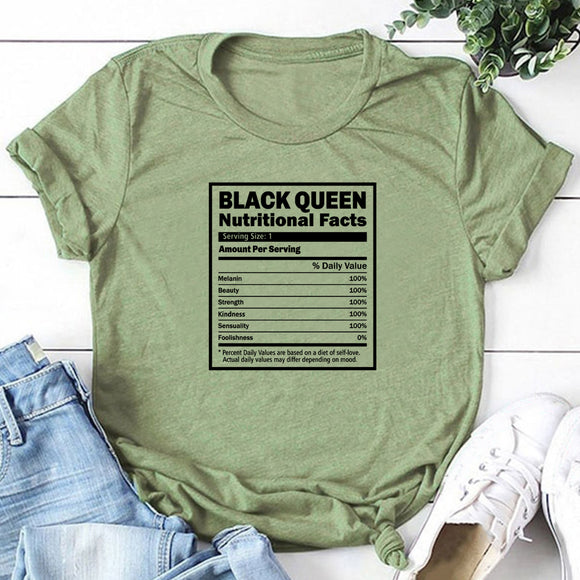 Black Queen Nutritional Facts T-Shirt