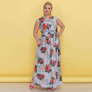 Flower Print Party Maxi Dress - ALL SIZES AVAILABLE