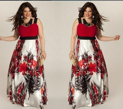 Plus Size Loose Evening Dress