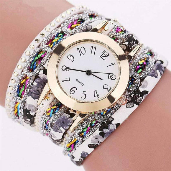 Flower Bangle Watch