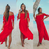 Beachwear Blouse Long Off-the-shoulder