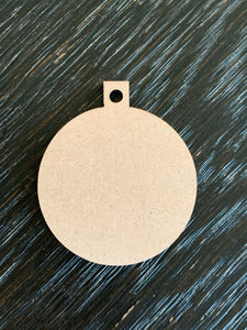 MDF Sublimation Ornaments