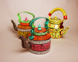 Handpainted Kettle - Rajasthani
