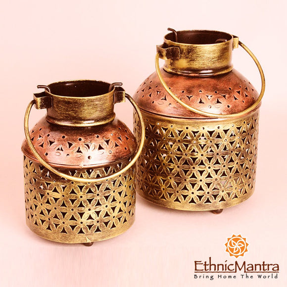 QANDEEL - Jodhpur Style Milk Can Lanterns