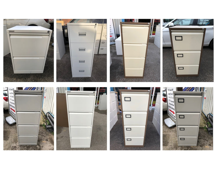 Latest Arrivals - Brand New Filing Cabinets Bisley/Trexus, White Desks & Executive Chairs