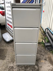 Bisley 4 Drawer Filing Cabinet Grey