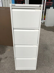 Bisley 4 Drawer Filing Cabinet White