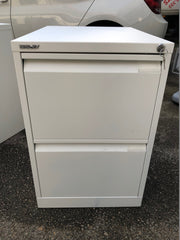 Bisley 2 Drawer Filing Cabinet White