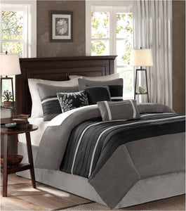 Madison Park Palmer Duvet Set Black - Flogit2us.com