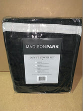 Load image into Gallery viewer, Madison Park Palmer Duvet Set Black - Flogit2us.com