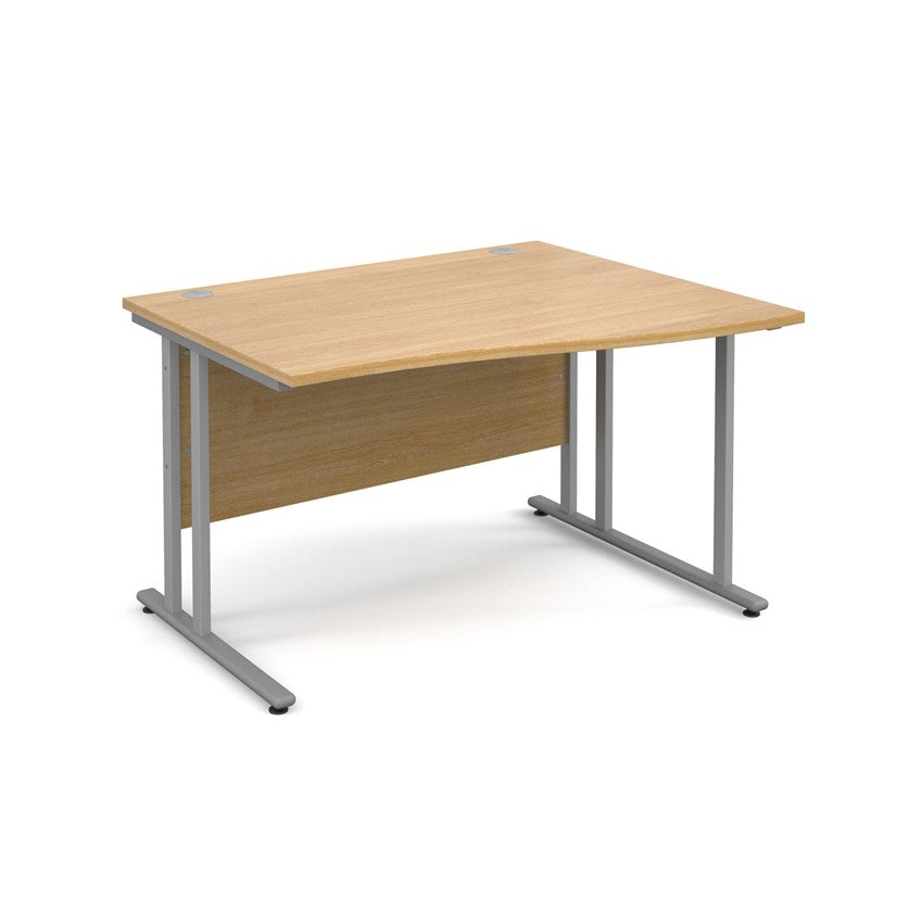 Maestro 25 Wave Desk - Oak - Flogit2us.com