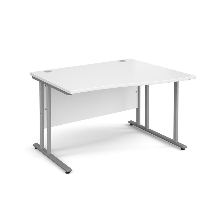 Maestro 25 Wave Desk - White - Flogit2us.com