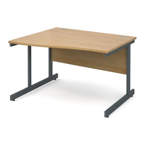 Contract 25 Wave Office Desk Oak - Flogit2us.com