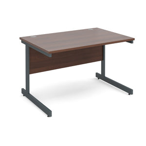 Contract 25 Straight Office Desk Walnut - Flogit2us.com