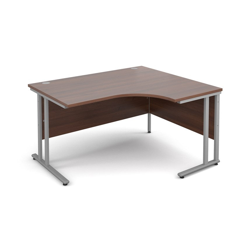 Maestro 25 Radial Desk - Walnut - Flogit2us.com