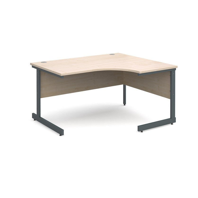 Contract 25 Radial Office Desk Maple - Flogit2us.com