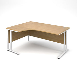 Maestro 25 Radial Desk - Oak - Flogit2us.com
