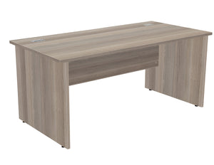 Crescent Straight Desk - Grey Oak - Flogit2us.com