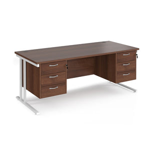 Maestro 25 Straight Desk With Two Fixed 3 Drawer Pedestals - Flogit2us.com