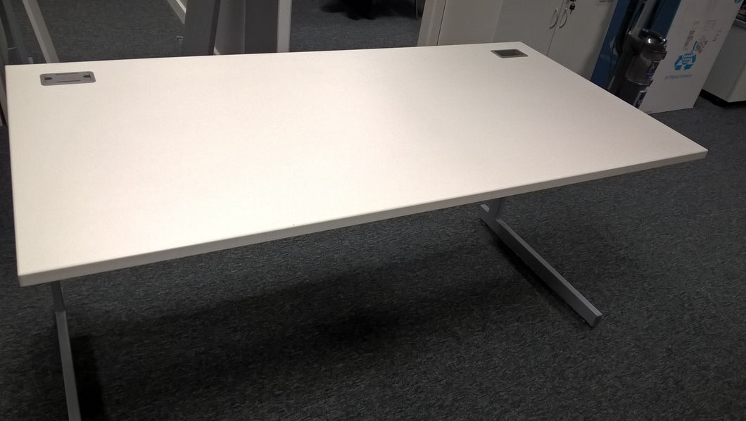 1600mm White Straight Desk - Flogit2us.com