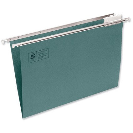 5 Star Office Suspension File Manilla Heavyweight with Tabs and Inserts A4 [Pack 50] - Flogit2us.com