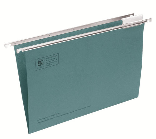 5 Star Office Suspension File Manilla Heavyweight with Tabs and Inserts Foolscap [Pack 50] - Flogit2us.com