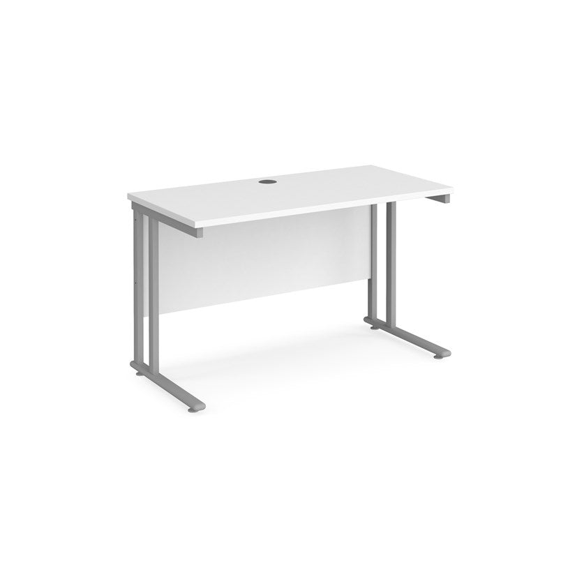 Maestro 25 Straight Desk 1200x600mm - White (Special Offer) - Flogit2us.com