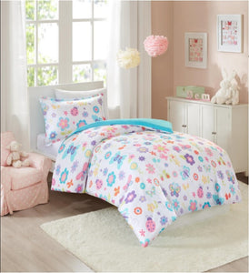 Mi-Zone Fluttering Farrah Single Duvet Set - Flogit2us.com