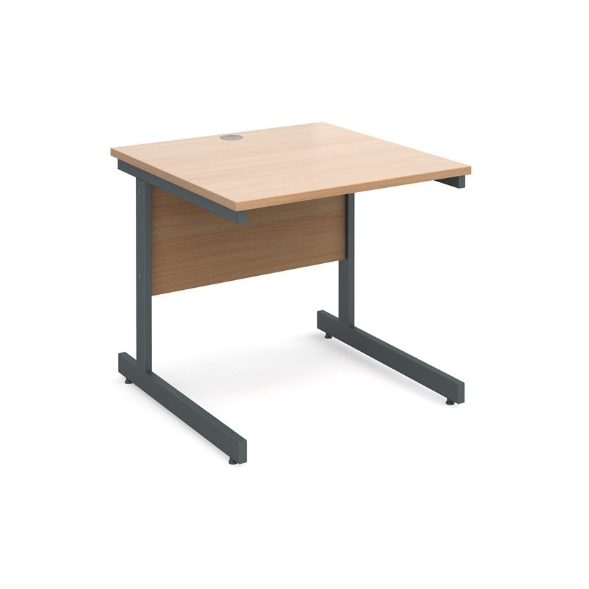 Contract 25 Straight Office Desk Beech - Flogit2us.com
