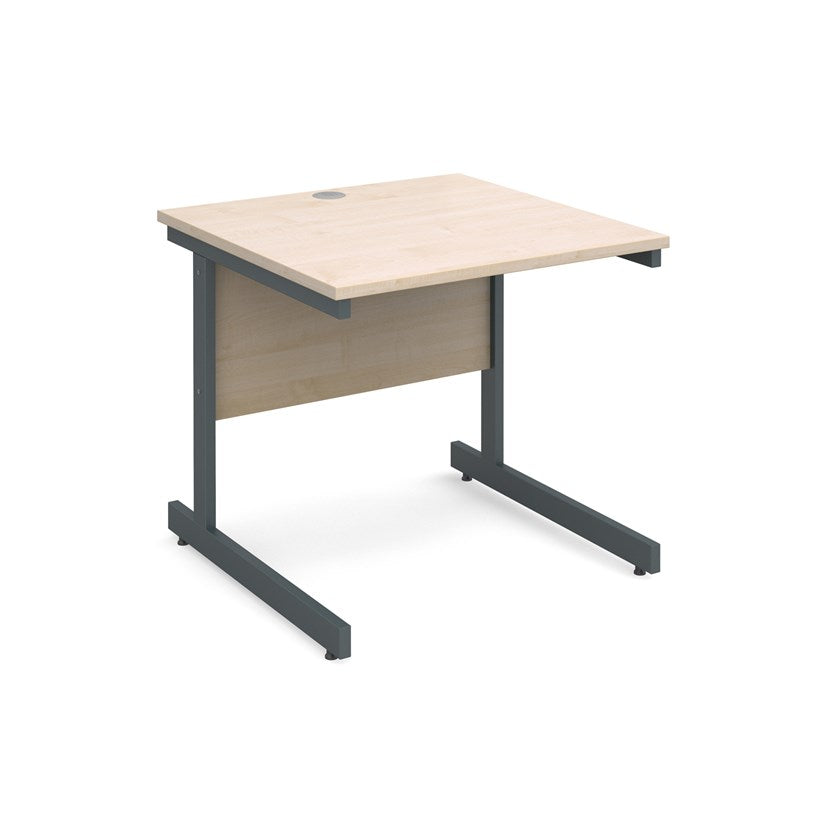 Contract 25 Straight Office Desk Maple - Flogit2us.com