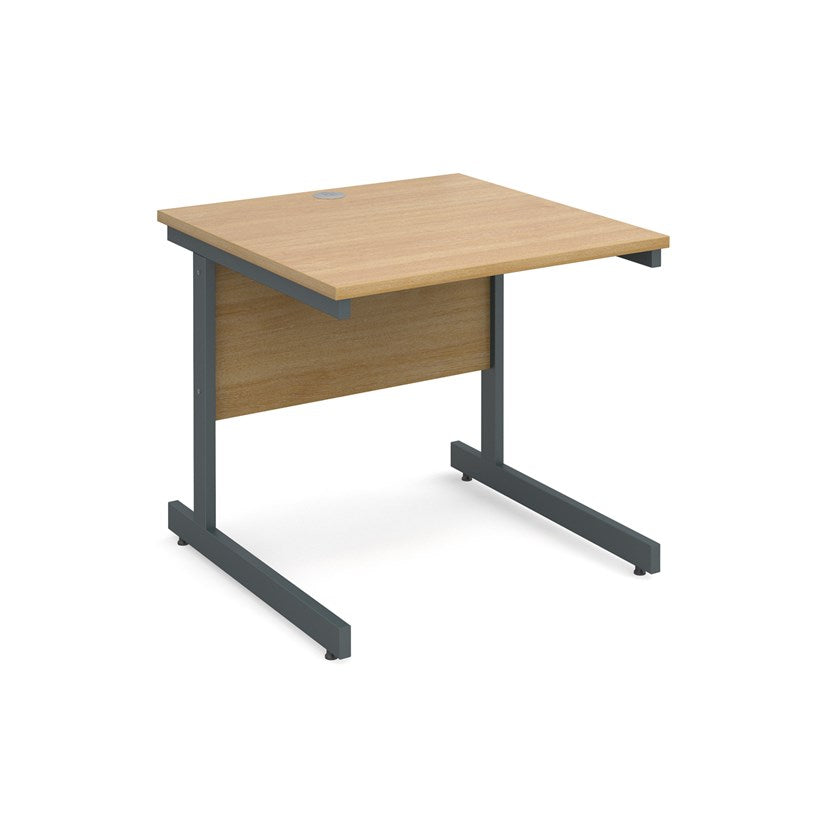 Contract 25 Straight Office Desk Oak - Flogit2us.com