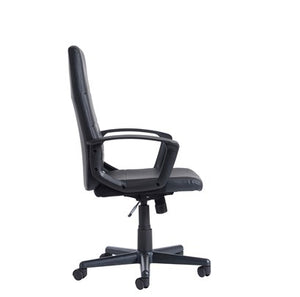 Ascona High Back Managers Chair - Black Faux Leather - Flogit2us.com