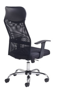 Aurora High Back Mesh Operators Chair - Black - Flogit2us.com