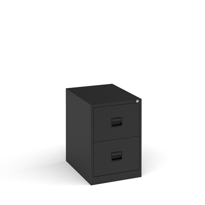 Steel Contract Filing Cabinet - Black - Flogit2us.com