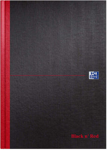 Oxford Black n' Red A4 Hardback Casebound Notebook - Flogit2us.com