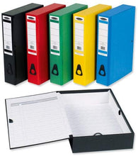 Load image into Gallery viewer, 5 Star Office Box File 75mm Spine Foolscap [Pack 10] - Flogit2us.com