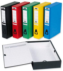 5 Star Office Box File 75mm Spine Foolscap [Pack 10] - Flogit2us.com