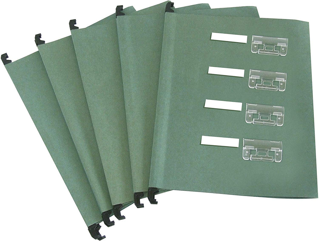 Cathedral FS50 Value Foolscap Manilla Suspension Files - Green (Pack of 50) - Flogit2us.com