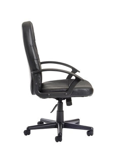Cavalier High Back Leather Faced Managers Chair (Special Offer) - Flogit2us.com