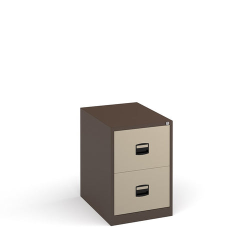 Steel Contract Filing Cabinet - Coffee & Cream - Flogit2us.com