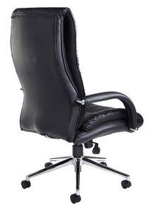 Derby High Back Executive Chair - Black Faux Leather - Flogit2us.com