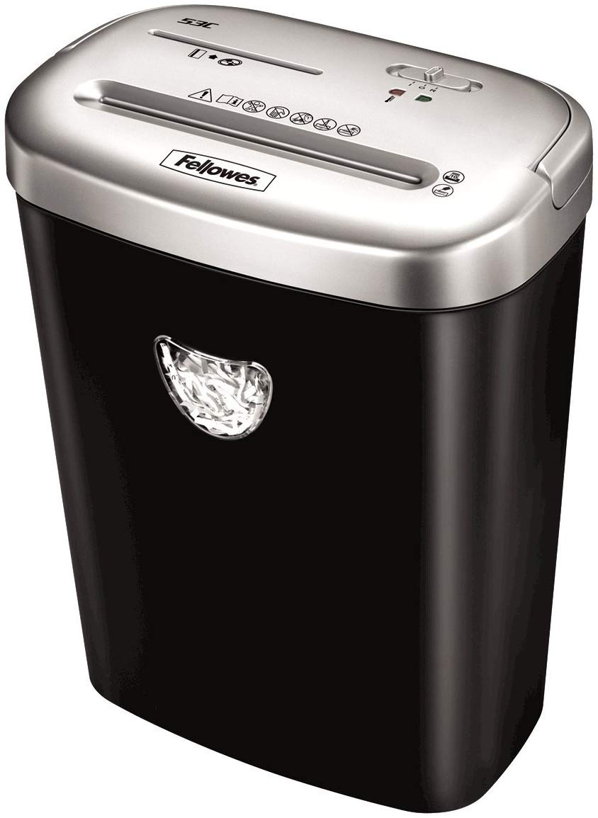 Fellowes Powershred 53C 10 Sheet Cross Cut Personal Shredder - Flogit2us.com