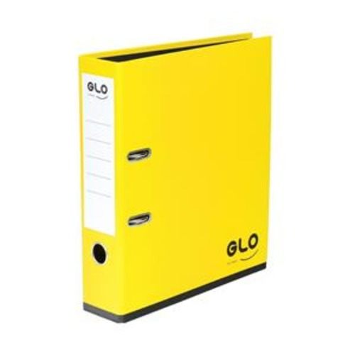 GLO A4 70mm Spine Lever Arch File - Lemon (Pack of 3) - Flogit2us.com