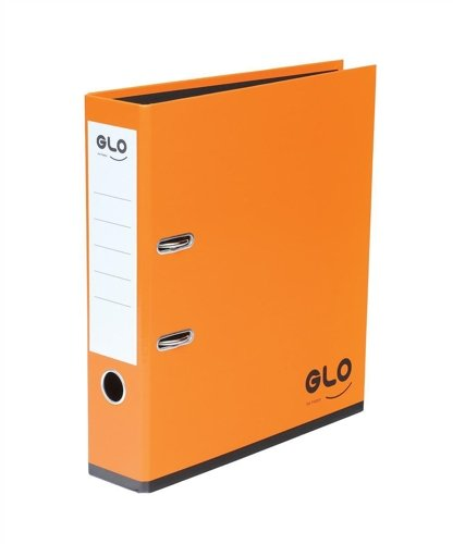 GLO A4 70mm Spine Lever Arch File - Orange - Flogit2us.com