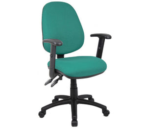 Vantage 100 2 Lever PCB Operators Chair With Adjustable Arms - Flogit2us.com