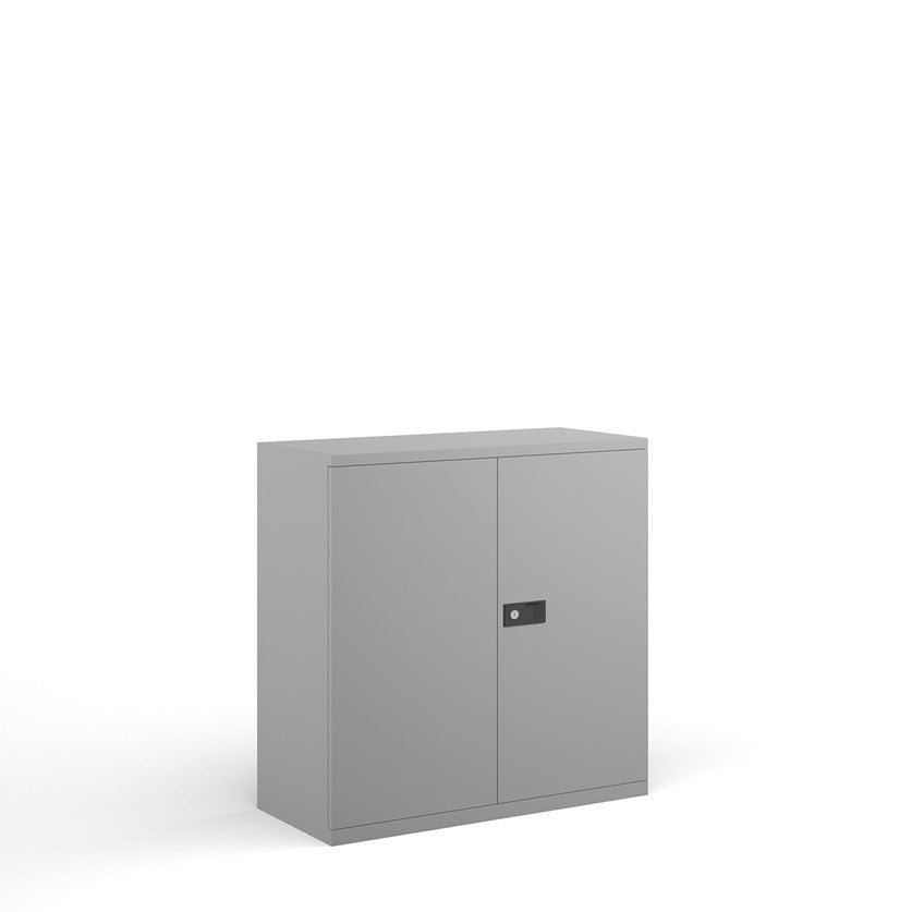 Steel Contract 2 Door Cupboard - Grey - Flogit2us.com