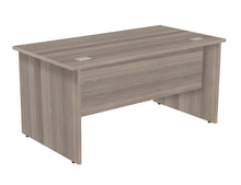 Load image into Gallery viewer, Crescent Straight Desk - Grey Oak - Flogit2us.com