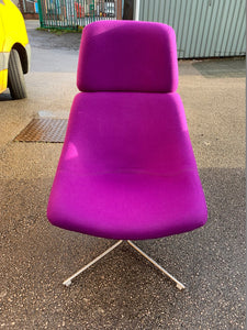 Upholstered Lounge Chair - Purple - Flogit2us.com