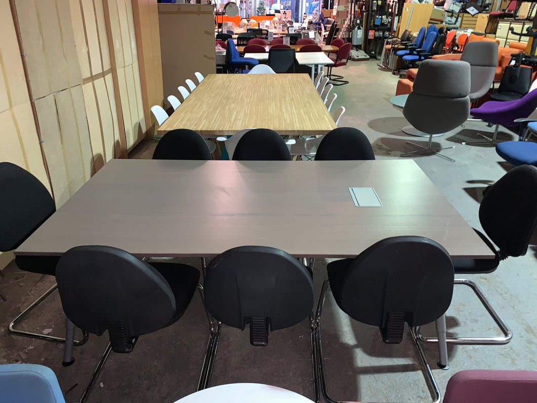 Grey Oak 6-8 Person Meeting Table - Flogit2us.com