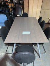 Load image into Gallery viewer, Grey Oak 6-8 Person Meeting Table - Flogit2us.com